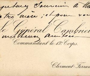 General Albert Cambriels