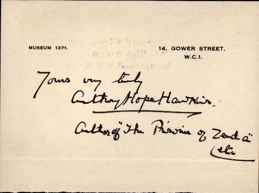 Anthony Hope Hawkins