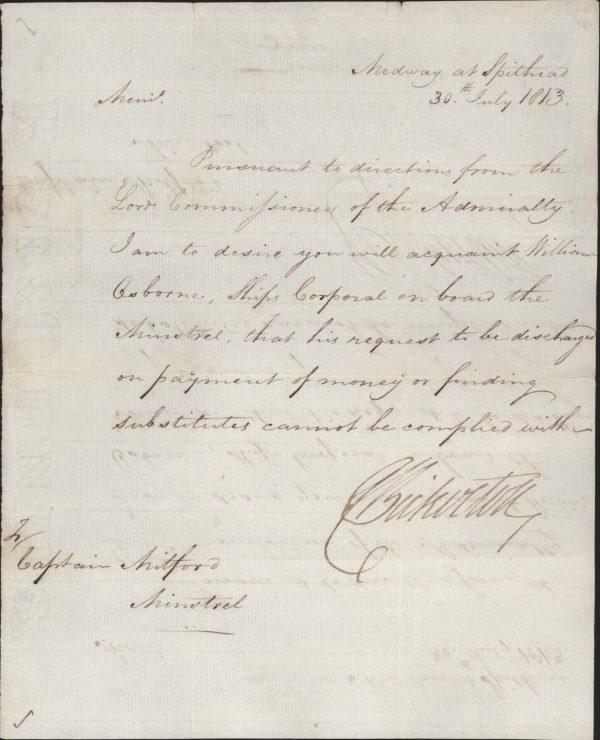 BICKERTON, Admiral Sir Richard. 15856