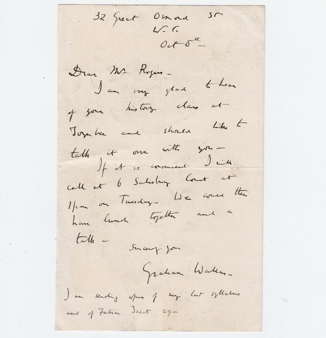 Wallas Graham 18344 Historical Autographs